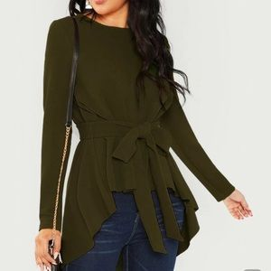 Army Green High-Low Top